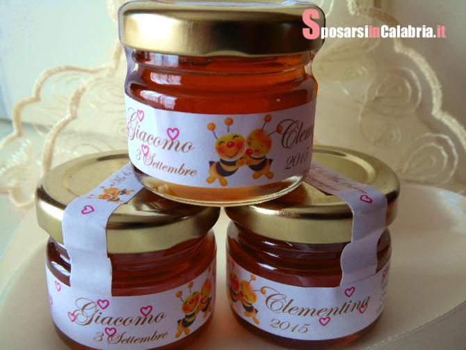 Segnaposto Matrimonio Miele.Cadeau Segnaposto Vasetto Miele Sposarsi In Calabria