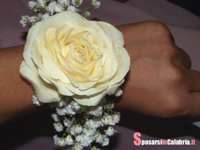 Favoloso Bracciale Fiorito per Damigelle e Testimoni - Sposarsi in Calabria CO74